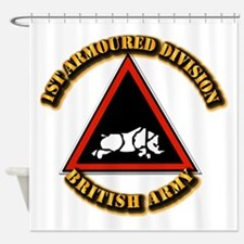 1st Armoured Division - UK Shower Curtain