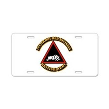 1st Armoured Division - UK Aluminum License Plate