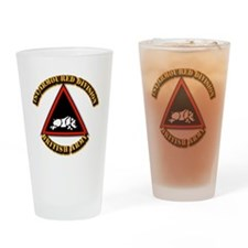 1st Armoured Division - UK Drinking Glass