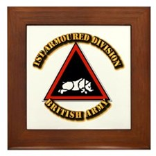 1st Armoured Division - UK Framed Tile