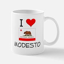 I Love Modesto California Mugs