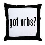 got orbs? Throw Pillow