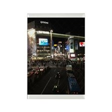 Shibuya At Night Rectangle Magnet