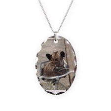 Dog On Bicycle Necklace