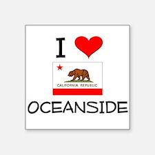 I Love Oceanside California Sticker
