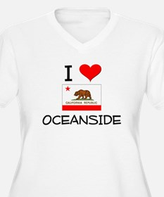 I Love Oceanside California Plus Size T-Shirt