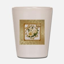 Floral Gold 50th Wedding Anniversary Shot Glass