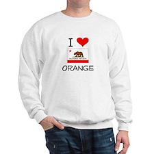 I Love Orange California Sweatshirt