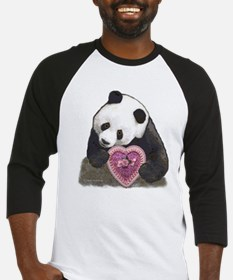 """Panda with a Heart for you"" Baseball Jersey"