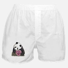 """""""Panda with a Heart for you"""" Boxer Shorts"""