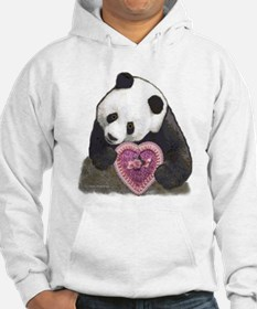 """Panda with a Heart for you"" Hoodie"