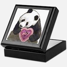 """Panda with a Heart for you"" Keepsake Box"