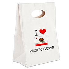 I Love Pacific Grove California Canvas Lunch Tote