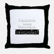 Electronic Voice Phenomena Throw Pillow