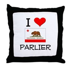 I Love Parlier California Throw Pillow