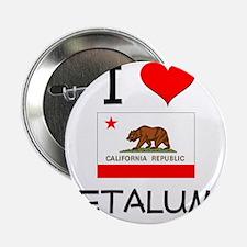 """I Love Petaluma California 2.25"""" Button"""