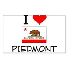 I Love Piedmont California Decal