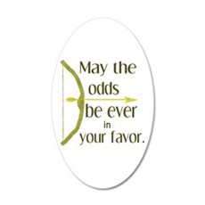 Odds Favor Bow Arrow Wall Decal Sticker