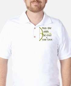 Odds Favor Bow Arrow Golf Shirt