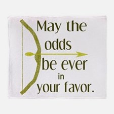 Odds Favor Bow Arrow Throw Blanket