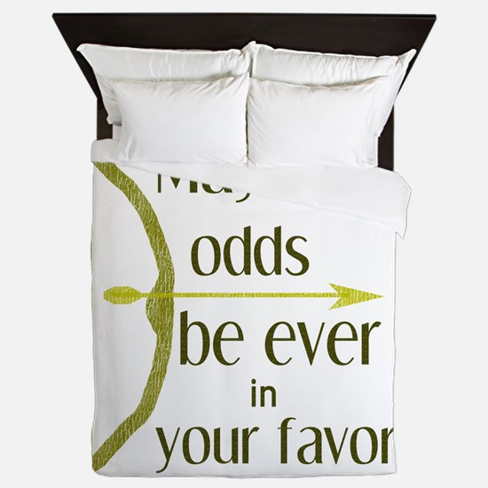 Odds Favor Bow Arrow Queen Duvet