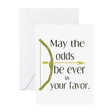 Odds Favor Bow Arrow Greeting Card