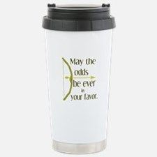 Odds Favor Bow Arrow Stainless Steel Travel Mug