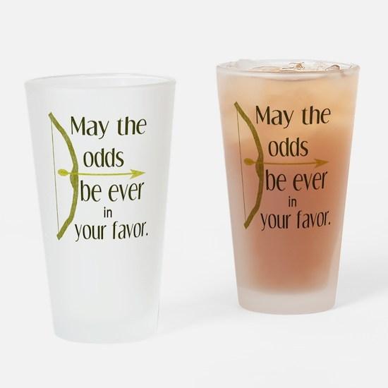 Odds Favor Bow Arrow Drinking Glass