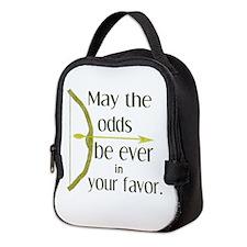 Odds Favor Bow Arrow Neoprene Lunch Bag
