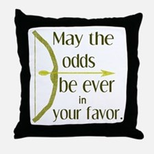 Odds Favor Bow Arrow Throw Pillow