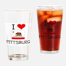 I Love Pittsburg California Drinking Glass