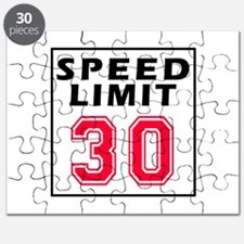 Speed Limit 30 Puzzle