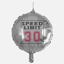 Speed Limit 30 Balloon
