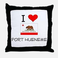 I Love Port Hueneme California Throw Pillow