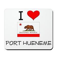 I Love Port Hueneme California Mousepad