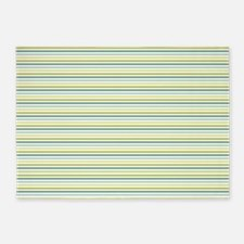 Green Stripes 5'x7'Area Rug
