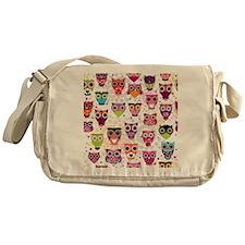 Colorful Owls  Messenger Bag