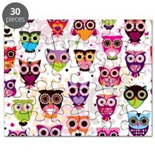 Colorful Owls  Puzzle