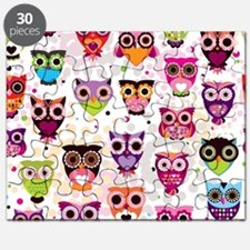 Colorful Owls  Puzzle