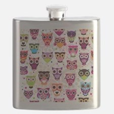Colorful Owls  Flask