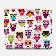 Colorful Owls  Mousepad