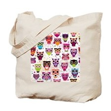 Colorful Owls  Tote Bag