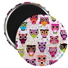 Colorful Owls  Magnet