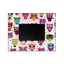Colorful Owls  Picture Frame