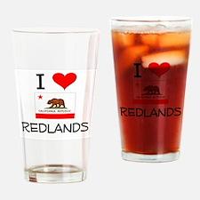 I Love Redlands California Drinking Glass