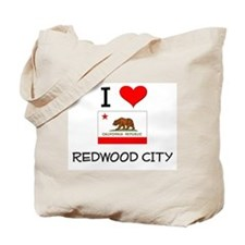 I Love Redwood City California Tote Bag