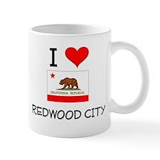 I Love Redwood City California Mugs