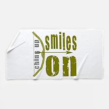 Chins Up Smiles On Bow Arrow Beach Towel