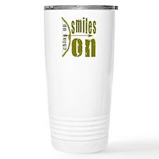 Chins Up Smiles On Bow Arrow Travel Mug