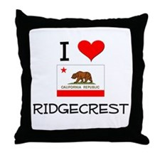 I Love Ridgecrest California Throw Pillow